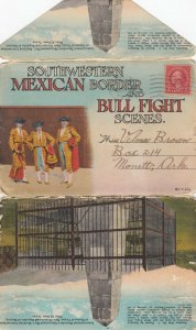 Southwestern MEXICO Border and Bullfight Scenes Folder, 1926