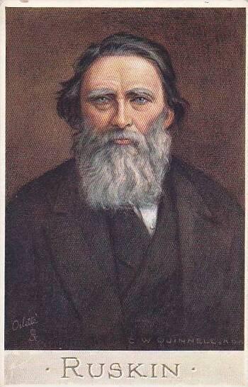John Ruskin Tuck Oilette Men Of Letters Series