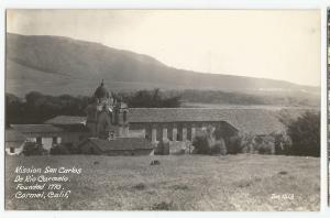 POST CARD, MISSION SAN CARLOS DE RIO CARMELO, CARMEL,  CALIFORNIA