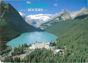 Lake Louise Hotel Inn Resort Canadian Rockies Mt Victoria   Postcard  # 7623