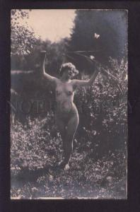 073680 NUDE Lady BELLE Butterfly NATURE vintage REAL PHOTO