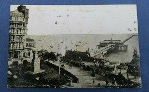 Vintage  Postcard Pier Southend On Sea Essex Postmarked 1925 C1