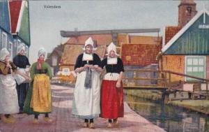 Netherlands Volendam Girls In Native Costume