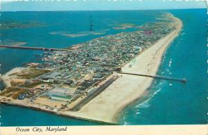 Ocean City Maryland aerial view pm 1978 Postcard