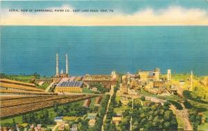 Erie Pennsylvania~Hammerhill Paper Co Aerial View~East Lake Road 1940 Linen PC
