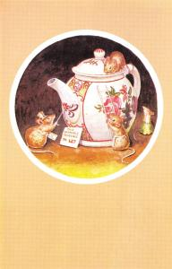 Racey Helps Fantasy~Teapot to Let Mice Inspect Painted China House~Medici