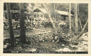 Bridge Switzer's 1920s Sierra Madre California RPPC Photo Postcard 336