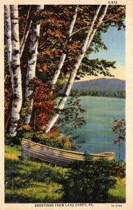 Pennsylvania Greetings From Lake Carey 1947 Curteich