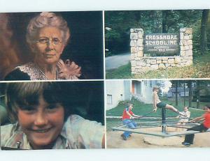 Pre-1980 FOUR VIEWS ON CARD - CROSSNORE SCHOOL Crossnore North Carolina NC J8488
