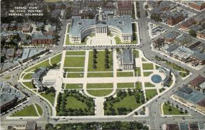 Denver CO~Aerial View of Civic Center, Capitol~1940s Postcard