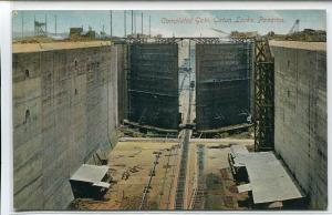 Completed Gates Gatun Locks Panama Canal 1910c postcard