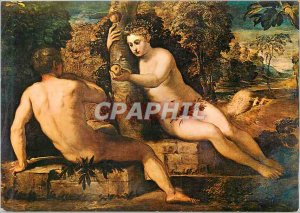 Jacopo Tintoretto Postcard Modern Adam and Eve Venice Accademia Gallery (Italy)