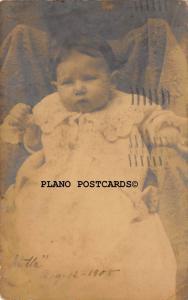 NEW ORLEANS, LOUISIANA SIX WEEK OLD BABY STELLA RPPC REAL PHOTO POSTCARD