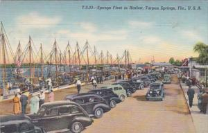 Florida Tarpon Springs Sponge Fleet In The Harbor Curteich