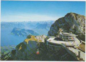 MOUNT PILATUS WITH AERIAL CABLEWAY AND LAKE LUCERNE, SWITZERLAND