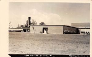 E79/ Hanoverton Ohio RPPC Postcard Columbiana County c40s United School
