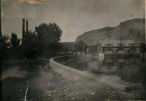 1907 New Plant Factory Billings Montana MT Amateur RPPC Photo Postcard