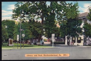 Pennsylvania NORTHUMBERLAND Library and Park - LINEN