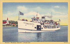 Michigan Mackinac Island Steamer Mackinac Islander Arnold Line Curteich