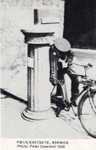 Eastgate Warwick Postman Bicycle Letter Pillar Box RPC Postcard