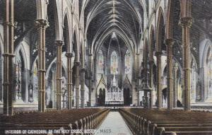 Interior Of Cathedral Of The Holy Cross, BOSTON, Massachusetts, 1900-1910s
