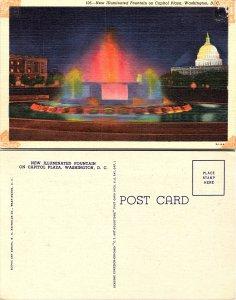 New Illuminated Fountain on Capitol Plaza, Washington D.C.