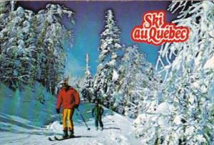 Canada Skiers Cross Country Alpine Skiing In Quebec