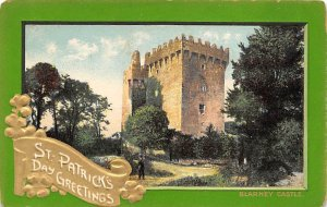 Blarney Castle   Saint Patrick's Day Postcard writing on back