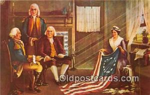 Birth of Our Nation's Flag Painting of Chas H Weisgerber Patriotic Postcard P...