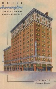 Hotel Harrington , WASHINGTON D.C., 1930-40s