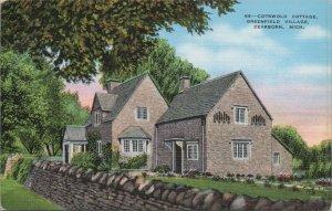Cottage Cotswold Group Greenfield Village Vintage postcard