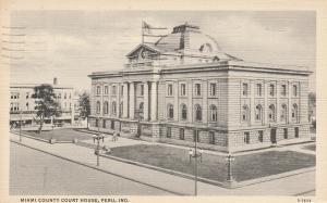 Vintage Postcard Miami County Court House Historic Building, Peru, Indiana