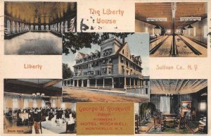 Monticello New York Liberty House Bowling Alley Vintage Postcard JJ658887
