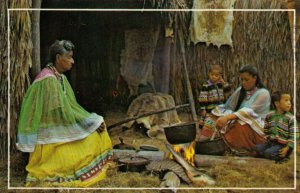 FLORIDA, PU-1981; Indians Cooking over a open fire