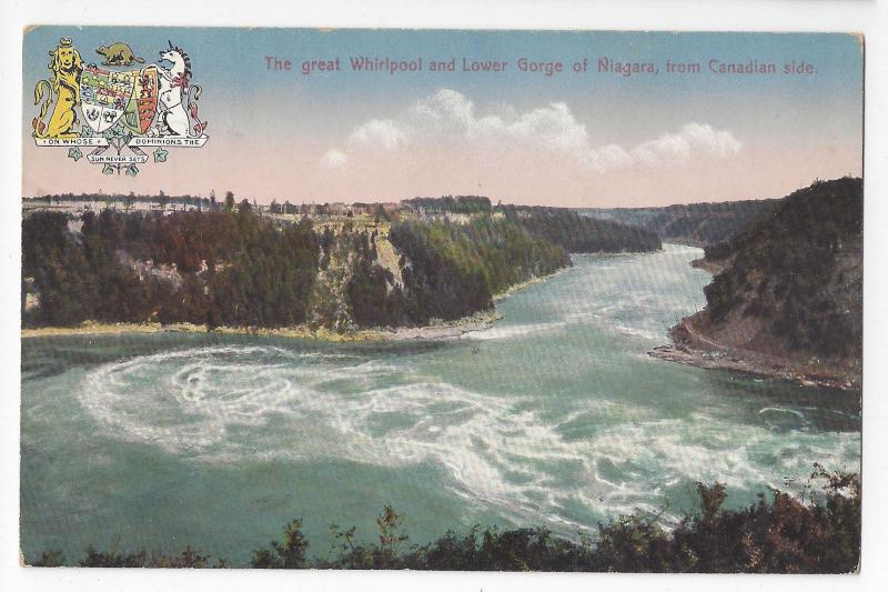 Canada Niagara Falls Great Whirlpool Lower Gorge Ontario Vintage Postcard