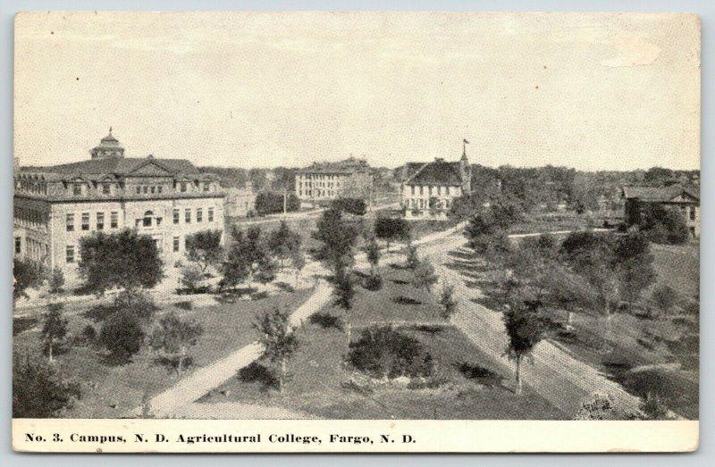 Fargo North Dakota~Agricultural College Campus Where Dirt Rd & Path Meet~c1910