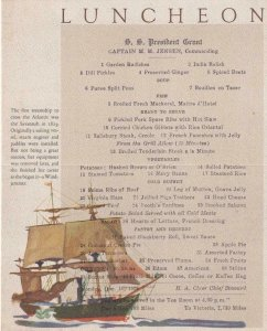 1928, Dollar Steamship Lines, Luncheon Menu, Mint (40174)