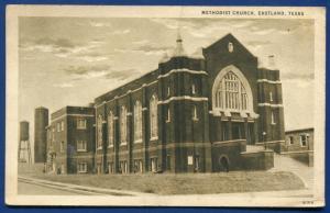 Eastland Texas Methodist Church South litho postcard