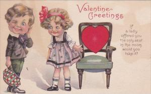 Valentine's Day Young Boy and Girl