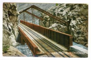 Denver & Grand Junction RPO to Burden, Kansas 1910 used PC, Royal Gorge