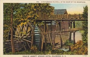 Old Mill In The Heart Of The Mountains Dillsboro North Carolina Curteich