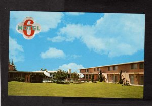 CA Motel 6 Hotel Merced California Postcard Carte Postale