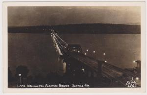 RP, Lake Washington Floating Bridge, Seattle, Washington, 1930-1940s