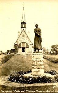 Canada - Nova Scotia, Grand Pre. Acadian Museum,Evangeline Statue*RPPC