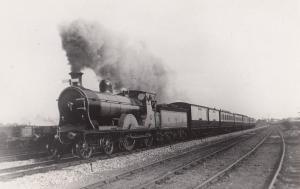 McIntosh Train 4-4-0 No 895 St Rollox Works Glasgow Old Postcard