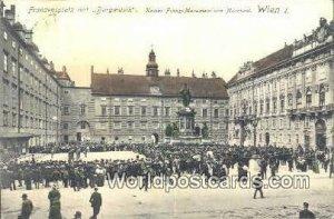 Kaiser Franz Monument von Marchesi Wien - Vienna Austria Postal Used Unknown