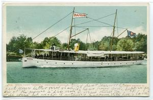 Steamer Yacht Ramona Thousand Islands New York 1906 postcard