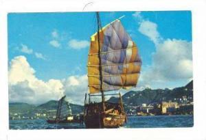 The harbor,Sail boats, Hong Kong, China, 40-60s