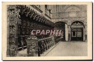 Old Postcard Brou Church Stalls Cote Sud