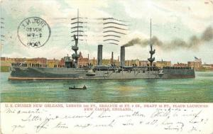 Bossleman 1906 Navy Military US Cruiser New Orleans NEW CASTLE ENGLAND
